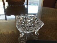 Candy/Nut  Dish, Crystal, Etched, Footed