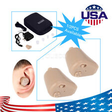 2 Pcs Rechargeable ITE Wireless Mini Hearing Aid Hearing Amplifier Ear Care USA