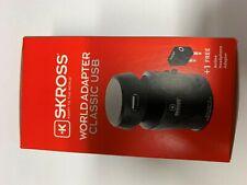 Skross Swiss World Travel Adapter 2 Converter Plug & USB Charger NEW EU/USA/Uk