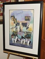 "James Hussey ""JAZZ"" Original Signed Modernist Collage & Framed COA musicians"