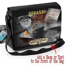 Personalised Titanic Movie Famous Ship Sport Shoulder Messenger Work School Bag