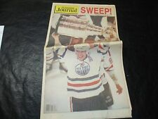 1988 Stanley Cup Finals Newspaper Journal Edmonton Oilers vs Boston Bruins