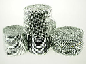 Metallic Silver Black Ribbon Shiny Mesh Overlay Wrap Wedding Decor Bling Premium