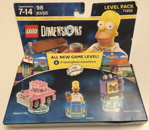 NEW Homer Simpson Car & TV The Simpsons Lego Dimensions Level Pack 71202