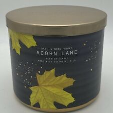 BATH & BODY WORKS ACORN LANE 3 WICK CANDLE NEW FREE SHIPPING fall