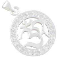 AUM OM Spiritueller Silber Anhänger Yoga Mantra Meditation b486