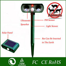 Hot Ultrasonic Solar Power Pest Animal Repeller Repellent Garden Cat Dog