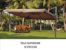 TOP TELO RICAMBIO OMBRELLONE DECENTRATO ALLUMINIO 3x3 CON AIRVENT ECRU 210GR/MQ