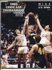 High School Basketball Program Washington Prep WIAA 1989 State AAA HTF