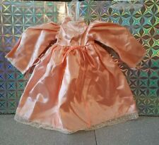 Peach Silk And Lace Doll Dress Vintage