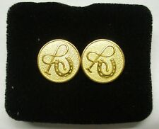 Horse Shoe And Whip Cuff Links Gold Plate