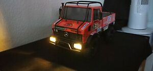 Tamiya RC Unimog 425 Rallye Dakar Unikat Crawler 1/10 mit Lichtmodul RC4WD