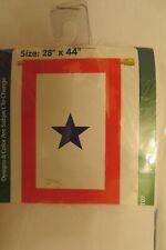 Blue Service Star, Military, Patriotic, applique decorative House Flag