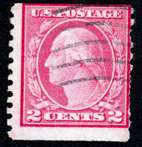US Stamp #491 Washington 1916 2ç Carmine Type II Used CV $250 - $525