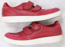 Adidas Freiziet Red Mens Lace Up Vintage Tennis Shoes 12 Twelve 2-Straps Leather