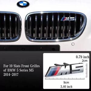 M5 Emblem For BMW 5 Series M5 10 Slats Front Grille 2014-2017