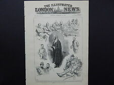 Illustrated London News Cover S8#07 Feb 1888 Sketches at Opening of Parliament
