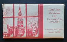More details for 1976 us mint bicentennial uncirculated 3pc 40% silver set 1776-1976