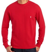 Polo Ralph Lauren Mens Long Sleeve Thermal Waffle Knit T Shirt Red XL NWT