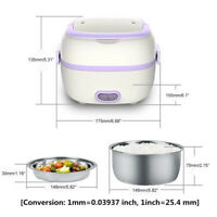 Multifunctional Small Electric Rice Cooker Mini Food Steamer PP +Stainless Steel