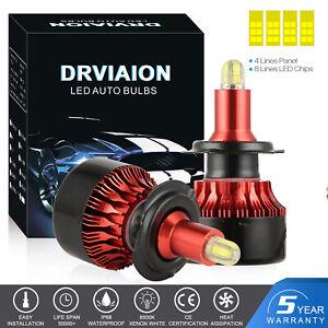 8-CÔTÉS LED H7 Ampoule 200W 30000LM Headlight Phare de voiture CREE 6500K Blanc