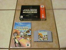 Star Wars: Episode I: Racer (Nintendo 64, 1999) CARTRIDGE BOX MANUAL