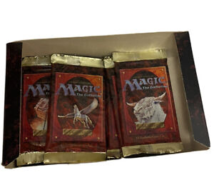 10 4th Fourth Edition Sealed Booster Packs Mtg Magic English With Box