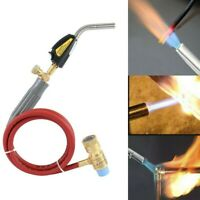 Mapp Gas Self Ignition Plumbing Solder Propane Welding Turbo Torch W/ 5ft Hose