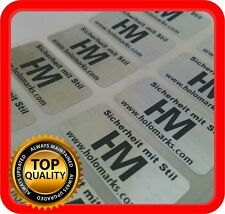 Ihr Logo und Text auf 1000 Hologramm Etiketten Garantie Siegel Aufkleber 32x15mm