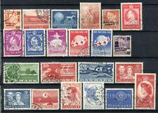Danimarca 1957-1960 Usato 100% Museo, Croce Rossa, celebrità