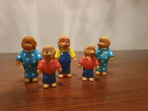 1986 The Berenstain Bears Flocked Figures Figurines Lot Of 5 (S&J Berenstain)