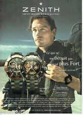 PUBLICITE ADVERTISING 1016  2007  Zenith  montre Defy El Primero 4021s Open