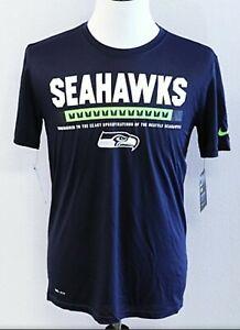 NWT Seattle Seahawks Nike Dri-Fit NFL EQUIPMENT S/S T-Shirt MENS XL TRAINING NEW