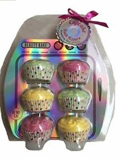 Fruity Scented Cupcake Bath Bomb Bombs Fizzer Fizzers Gift Set of 6 - Strawberry