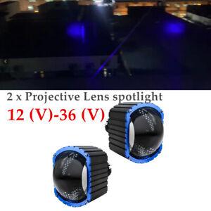 16000LM 12-36V LED Car High Beam Projective Lens Bright Headlamp Fog Lamp Kit