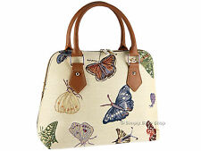 Signare Ladies Womens Woven Tapestry Handbag Shoulder Bag In Butterfly Design