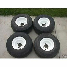 Set of 4 Used Golf Cart Tires and Rims For Club Car Carts 75%+ tread