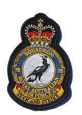 RAAF 75 Squadron Uniform Patch Crest New