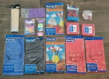 party accessories lot - tablecloths/ balloons/ glitter/ skewers