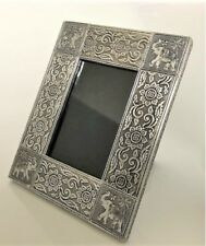 Handmade Aluminium Silver Elephant Design Picture Photo Frame  Fair Trade