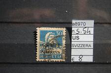 FRANCOBOLLI SVIZZERA USATI S.N°54 (A8970)
