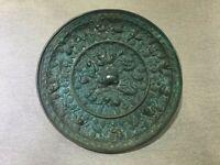 Free shipping Rare Chinese bronze sea beast grape mirror