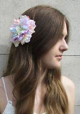Grand pastel arc-en-fleur pince à cheveux pivoine rose corsage festival plume Y03
