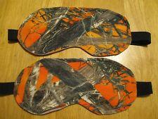 2 Masks Sleep Eye Travel Blindfold Dark New Aid Shade Fleece Orange Camo True Ti