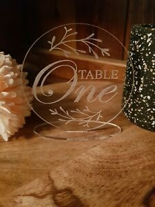 3 day SALE!!!!12x  Acrylic Table Numbers 1-12