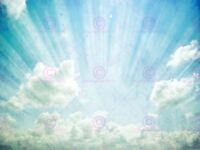 Painting Illustration Sunbeam Cloud Sky Haze Canvas Art Print
