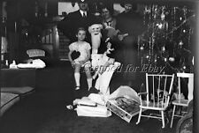 Early 1900s Santa Claus Christmas Old Toy Doll ORIGINAL PHOTO NEGATIVE