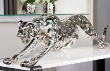 59783 Guepardo Poli plata antigua L 145cm Altura 31cm Ancho 48cm Leopardo Felino