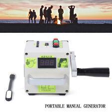 Handkurbel Generator Ladegerät LED Dynamo Outdoor Tragbare Stromversorgung USB