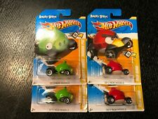 HOT WHEELS HW IMAGINATION ANGRY BIRDS RED BIRD MINION PIG LOT OF 4